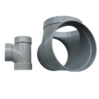 Grey/Beige Custom Made Pvc Pipe Fittings--- Large Diameter Pipe Tee