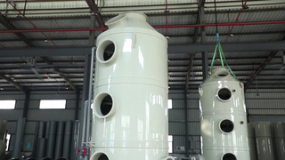 Chemical Industrial HCL Gas Pollution Control Equipment Wet Scrubber