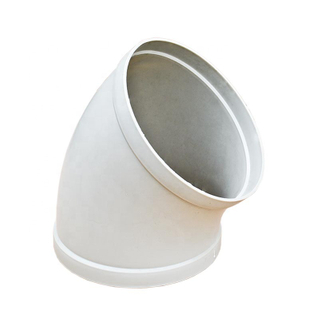 Hdpe polypropylene pipe fitting/ Air duct elbow 45 degree elbow pipe fitting