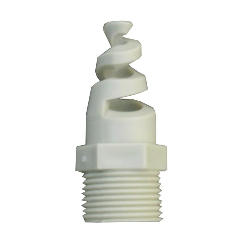 Custom Gas Washing PP Plastic Spiral Spray Nozzle