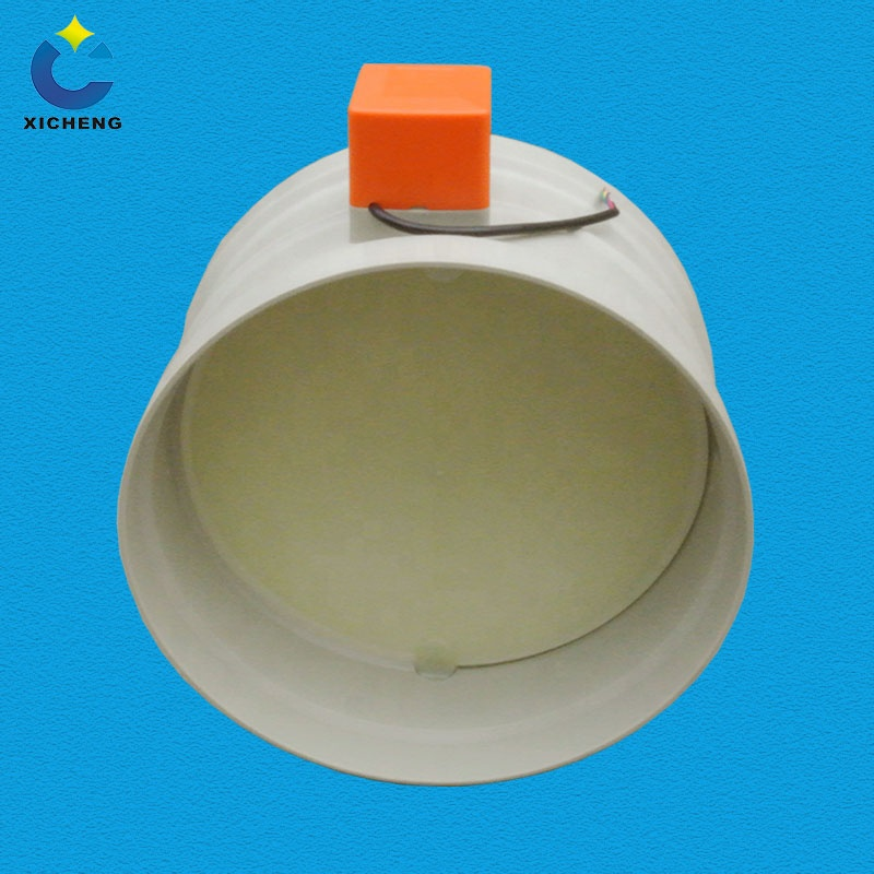 Plastic Motorized Valve for Air Flow Control, Electric Air Dampers HVAC for Ventilation System