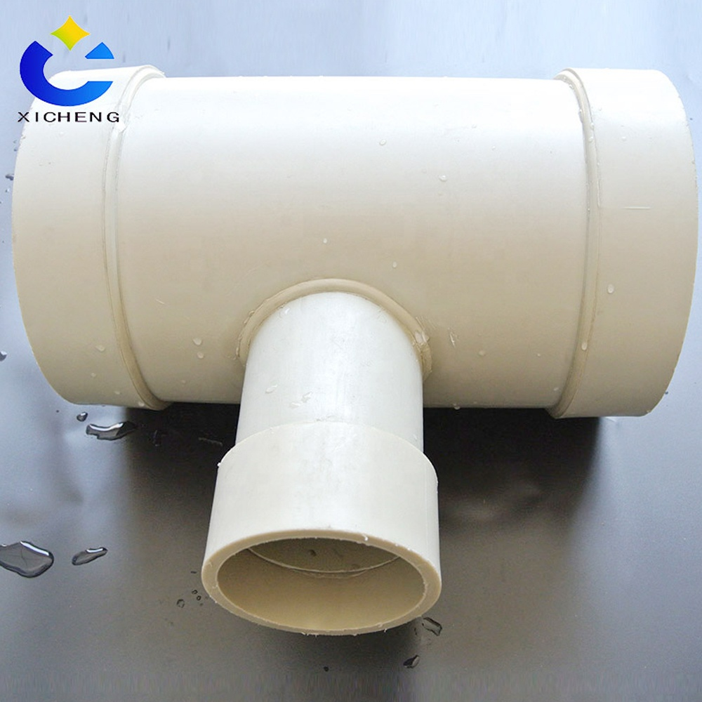 All Size Available Plastic Pipe Butt Fusion Reducing Equal Tee Plastic Poly Pe Pipe Fittings