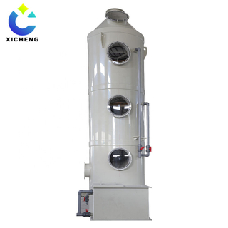 Industrial wet spraying purification gas scrubber