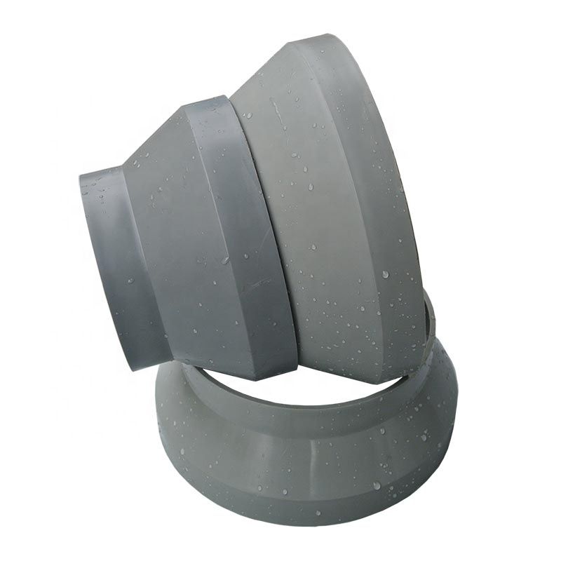 Plastic Ventilation Pipe Fitting Variable Diameter Pipe Reducer