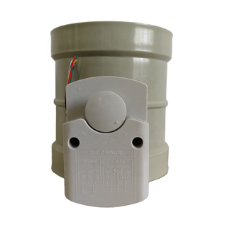 Air Flow Control Plastic Ventilation Pipe Fitting PP Motorized Dampers