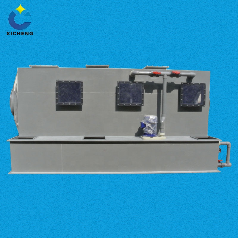 CN Environmental Friendly equipment PP Horizontal Gas Scrubber with Corrosion Resistance